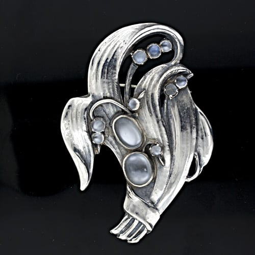Art Nouveau Foliate Moonstone Brooch.jpg