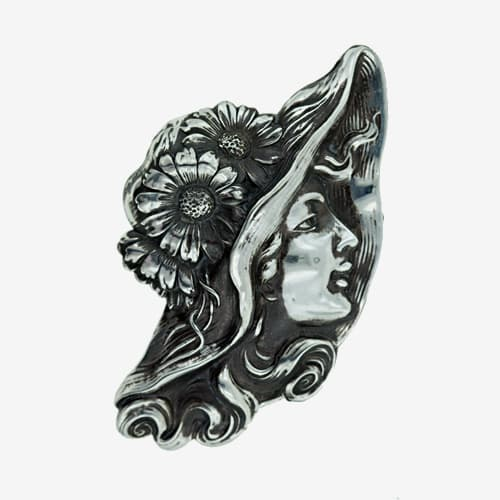 Art Nouveau Silver Girl with Hat Brooch.jpg
