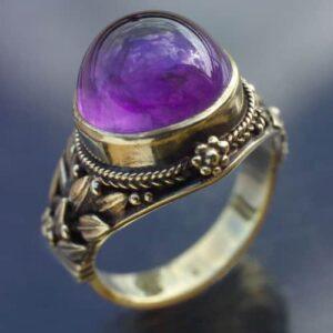 Henry G. Murphy Arts & Crafts Amethyst, Gold Ring, c.1925.