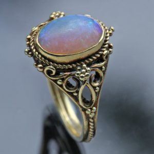 Edward Spencer Artificers' Guild Arts & Crafts Opal, Gold Ring, c.1905.