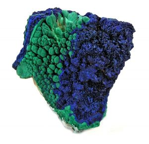 Azurmalachite Specimen. Photo: Rob Lavinsky, iRocks.com – CC-BY-SA-3.0.
