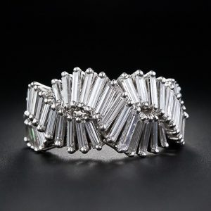 French Baguette Cut Diamond Band c. 1950. Photo Courtesy of Frances Klein Classic Jewels.