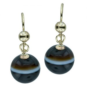 Banded Agate Earrings.