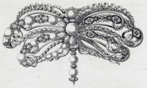 Bow Brooch Design, 17th Century.