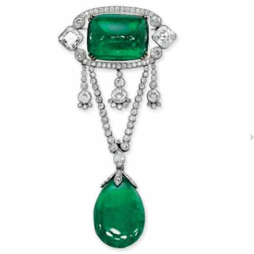 Belle Epoque Emerald Diamond Brooch.jpg