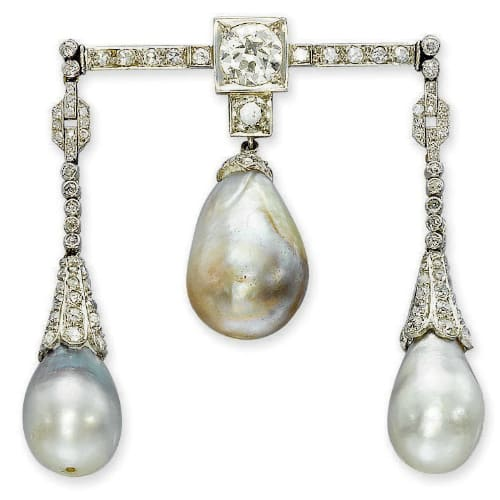 Belle Epoque Pearl and Diamond Brooch.jpg