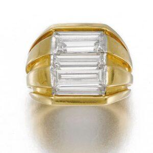 Belperron Retro Gold and Diamond Ring, c.1945.