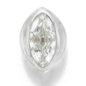 Belperron Rock Crystal and Diamond Ring, c.1935.