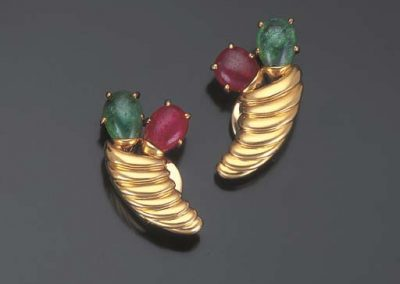 Belperron_Ruby_Emerald_Gold_Earrings