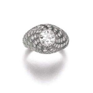 Belperron Tourbillion Ring, c.1943 with Maker's Marks for Groëné & Darde.