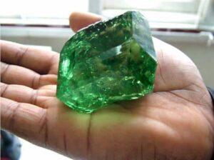 Large Tsavorite Crystal.