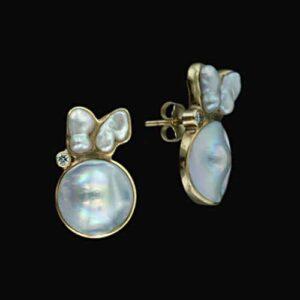 Blister Pearl Earrings.