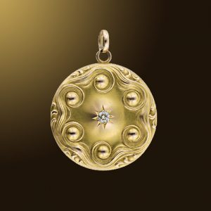Bloomed Gold Locket