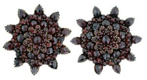Bohemian Garnet Earrings.