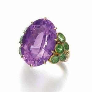 Boivin Amethyst Peridot Ring