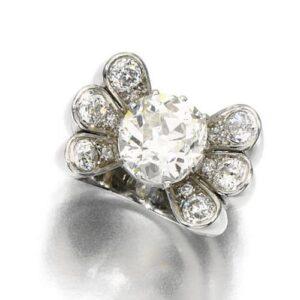 René Boivin Art Deco Diamond Ring, c.1933. Photo Courtesy of Sotheby's.