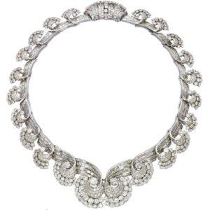 René Boivin Art Deco Diamond Necklace, c.1935. Photo Courtesy of Christie's.