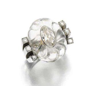 René Boivin Art Deco Rock Crystal Ring, c.1932. Photo Courtesy of Sotheby's.
