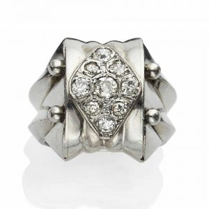 René Boivin Art Deco Diamond Ring, c.1935. Photo Courtesy of Christie's