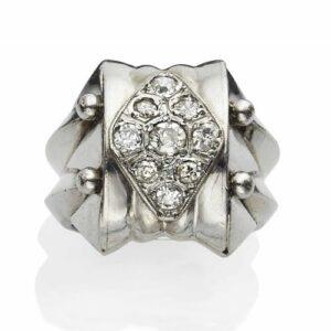 René Boivin Art Deco Diamond Ring, c.1935. Photo Courtesy of Christie's