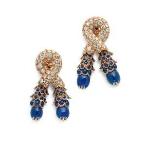 René Boivin Sapphire and Diamond Earrings c.1950. Photo Courtesy of Christie's.