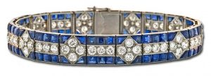 Art Deco Diamond and Sapphire Bracelet, Boucheron, Paris circa 1920's.