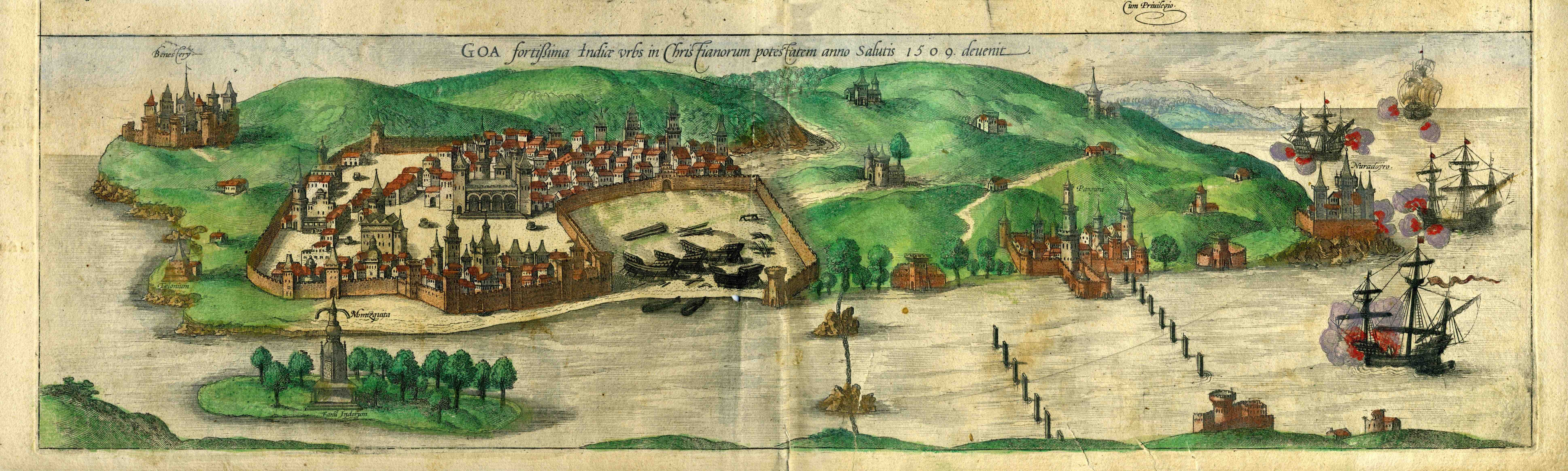 The City of Goa in 1572.