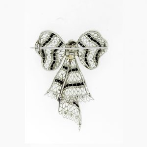 Reverse View of an Edwardian Bow Brooch.