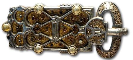 Germanic belt buckle, 6th century