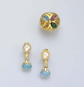 Bulgari Gem-Set Ring and Earrings. Photo Courtesy of Christie's