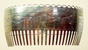 German Silver Comb by Bruce Caesar.