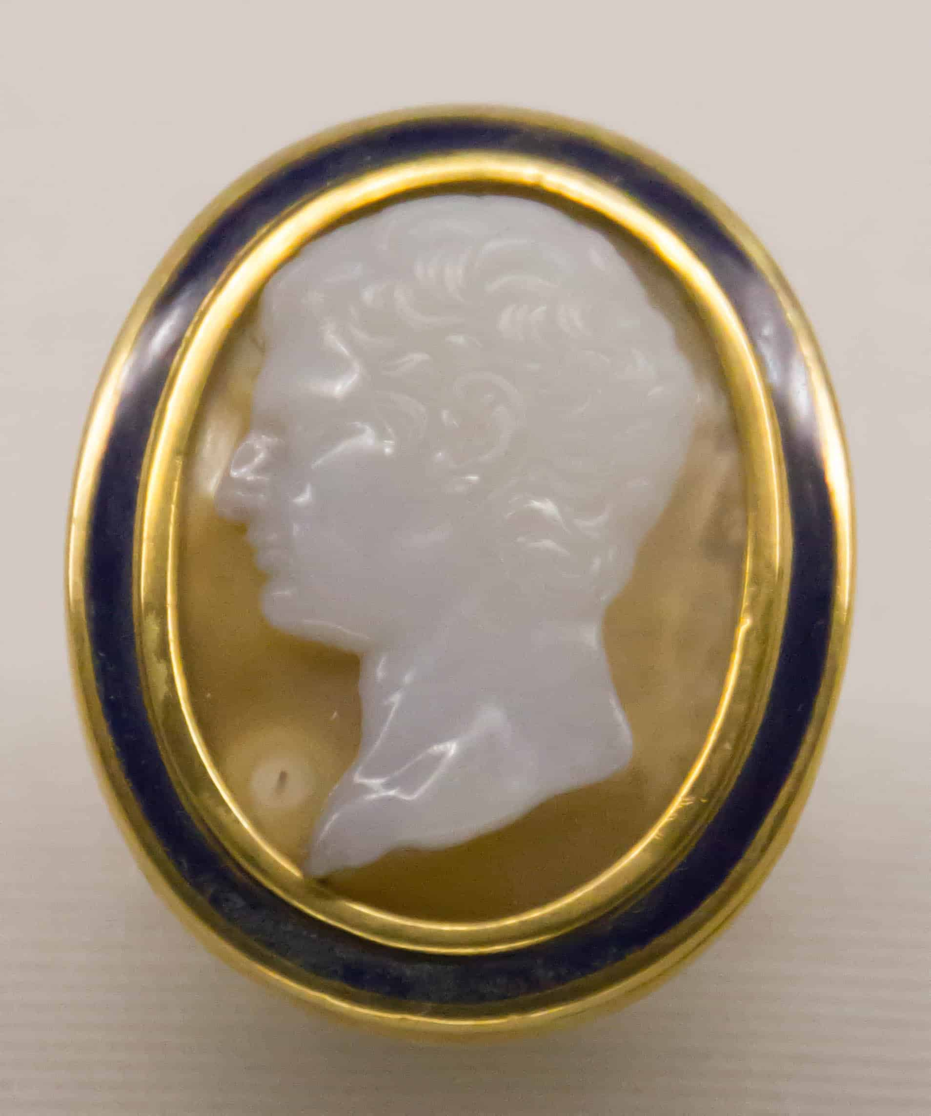 Cameo Italy Early 19th Cen Agate Enamel.jpg