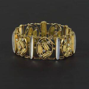 Carl Otto Czeschka Bracelet Executed by Stanislaus Teyc, c.1910