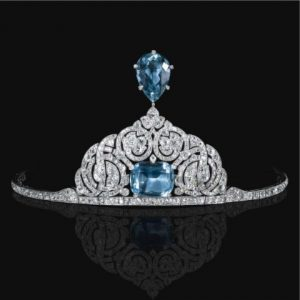 Cartier Aquamarine and Diamond Tiara c.1912.