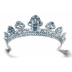 Aquamarine Tiara by Cartier c.1937.
