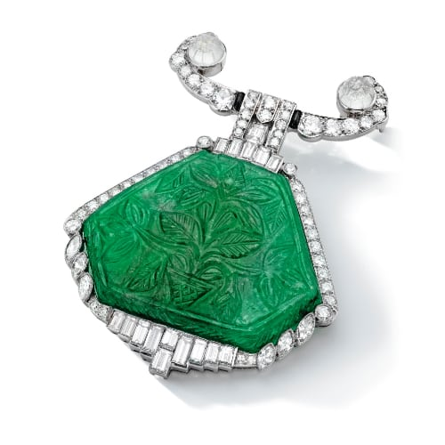 Cartier Art Deco Emerald Diamond Brooch.jpg