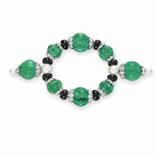 Cartier Art Deco Emerald Diamond Jabot .jpg