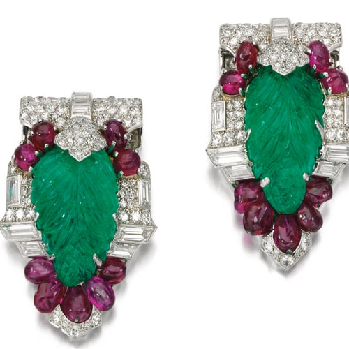 Cartier Art Deco Gemstone Dress Clips.jpg