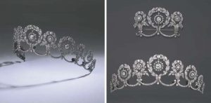 Cartier Belle Époque Garland Style Diamond Tiara and Stomacher, circa 1908. Photo Courtesy of Christie's.