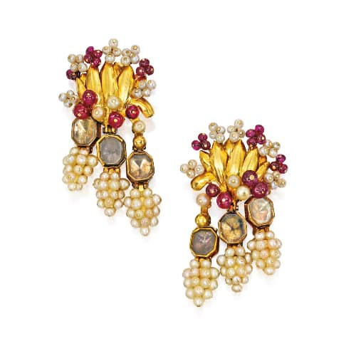 Cartier Retro Gold Seed Pearl Earrings.jpg