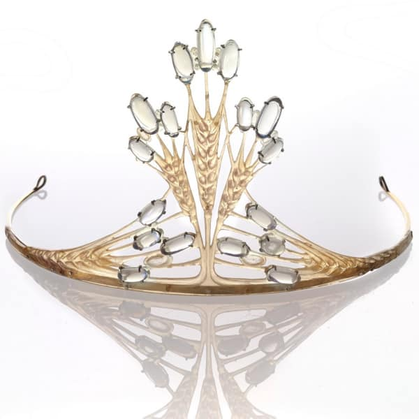 Carved Horn and Opal Art Nouveau Tiara.jpg