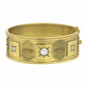 Castellani Granulated Bangle Bracelet.