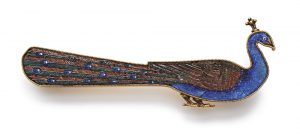 Micromosaic and Gold Peacock Brooch, Castellani, c.1870.