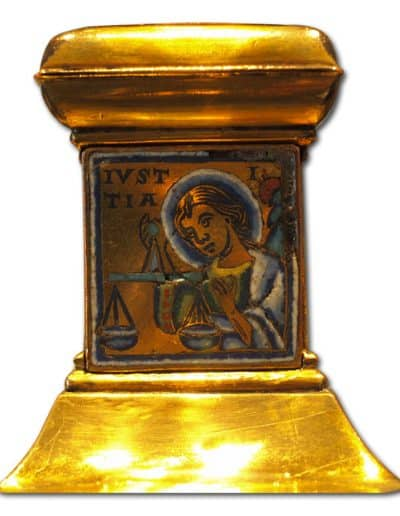 Champlevé enamel. Second half of 14th century.