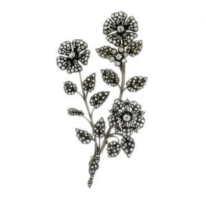 Antique French Corsage Diamond Brooch c. 1890.