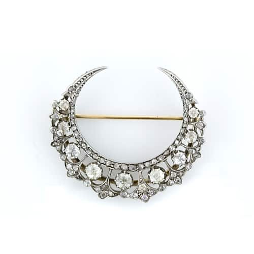 Crescent_Diamond_Victorian_Brooch