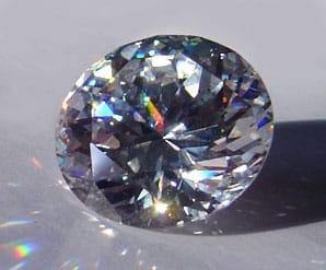 Round Brilliant-Cut Cubic Zirconia.