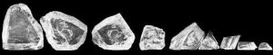 An image of the 9 largest pieces of the Cullinan Diamond.