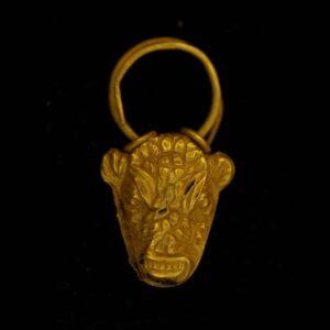 Bull's Head Pendant Earring. c.1300-1200 B.C., Cyprus.