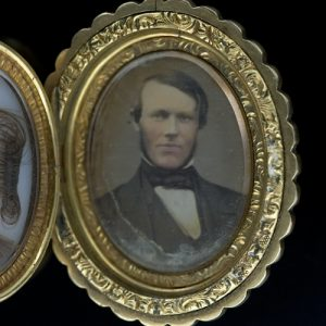 Locket with Daguerreotype.